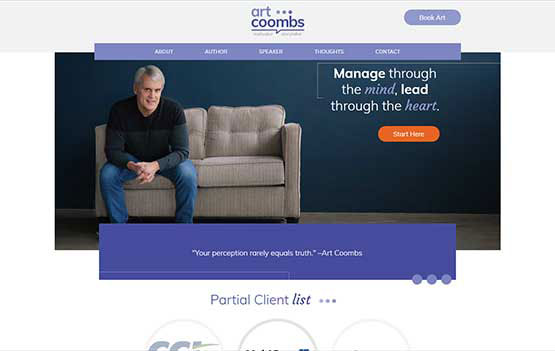 Art Coombs website design