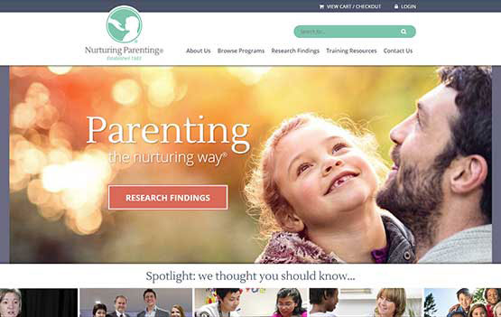 Nurturing Parenting website design