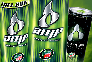AMP Energy drink website design