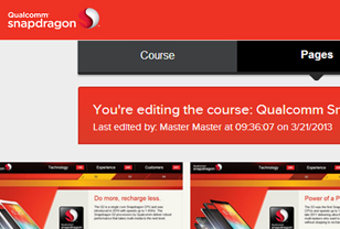 Qualcomm website design